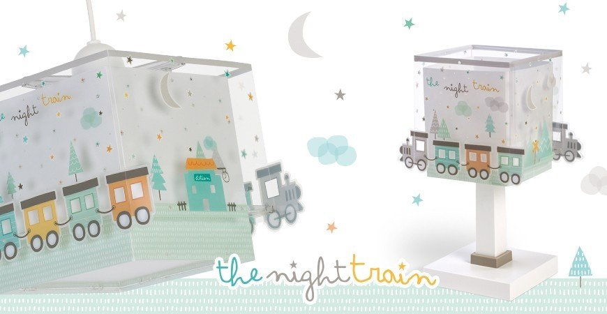 Lampes pour enfants avec train The Night Train  | DALBER