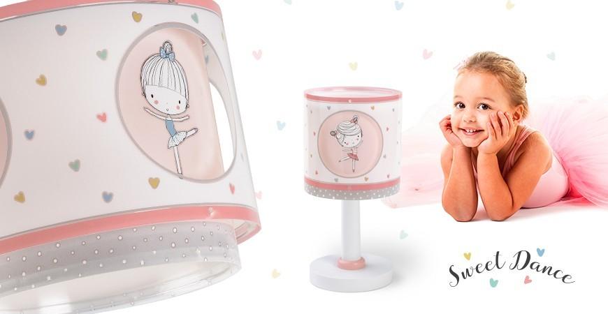 Candeeiros infantis com dançarina coleção Sweet Dance | DALBER