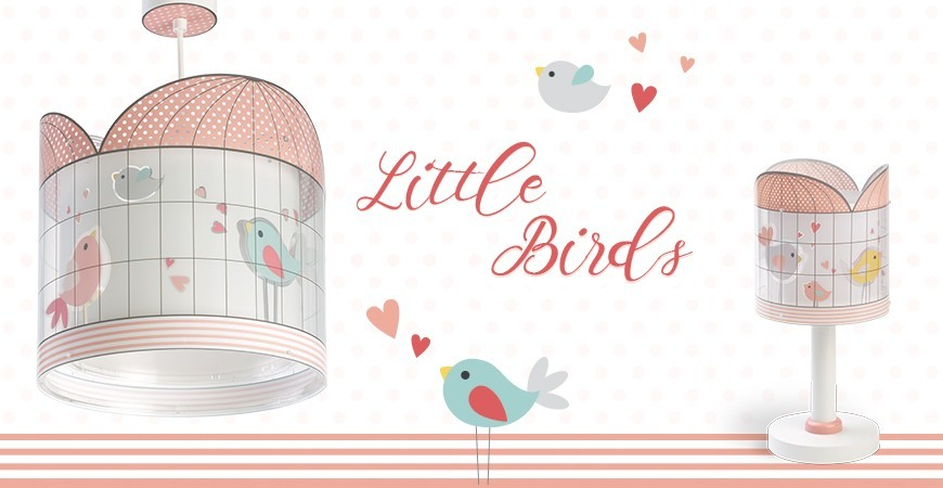 Candeeiros infantis com pássaros coleção Little Birds | DALBER