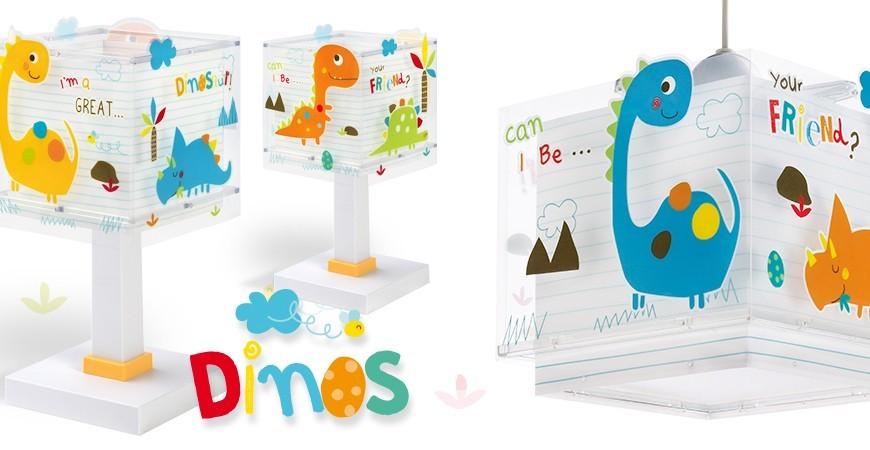 Candeeiros infantis com dinossauros coleção Dinos   DALBER