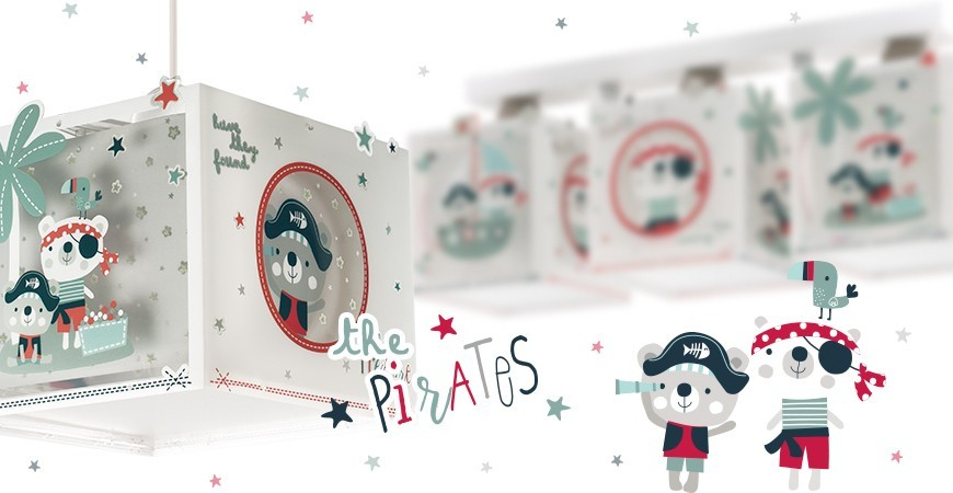 Lámparas infantiles con ositos pirata colección The Pirates | DALBER