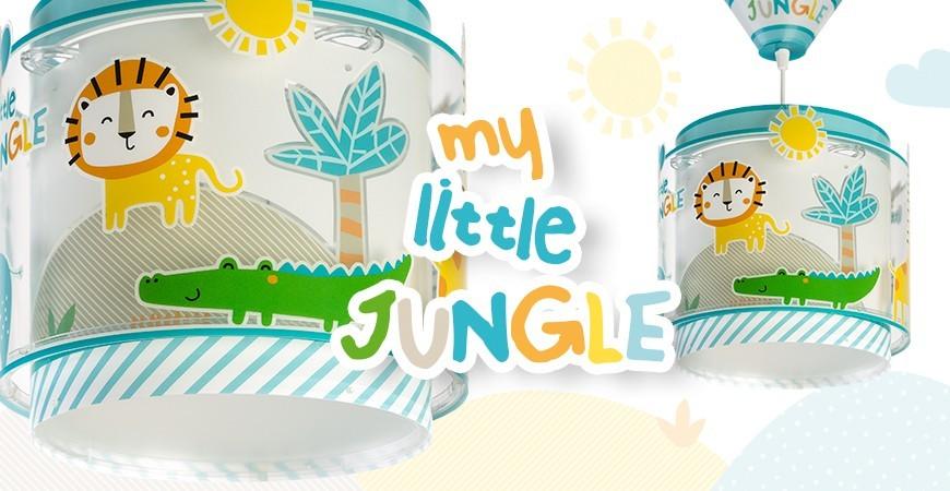 Candeeiros infantis com animais coleção My Little Jungle | DALBER
