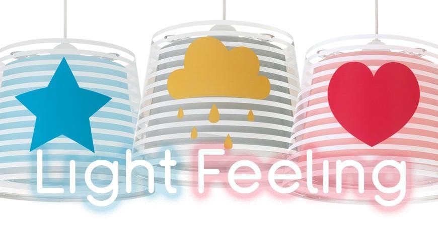 Lampade per bambini con stelle, nuvole e cuori Light Feeling | DALBER