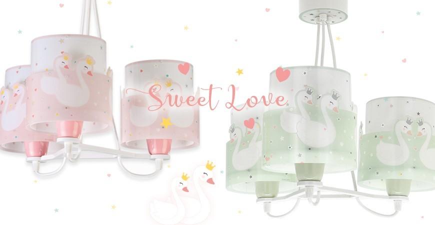 Candeeiros infantis com cisnes coleção Sweet Love  | DALBER