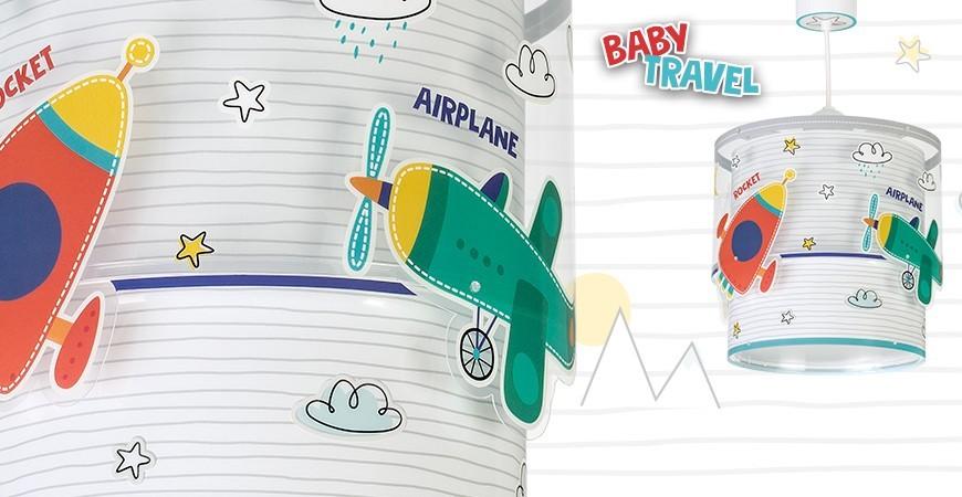 Candeeiros infantis com carros e aviões coleção Baby Travel | DALBER