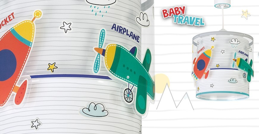 Lampes pour enfants avec voitures et avions Baby Travel | DALBER