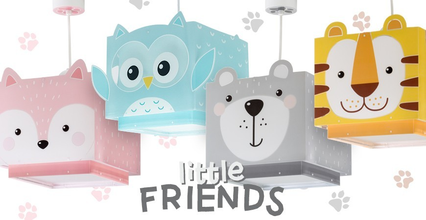 Candeeiros para crianças com urso, tigre ou raposa Little Friends | DALBER
